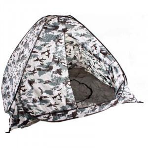 Ziemas makšķernieku teltis