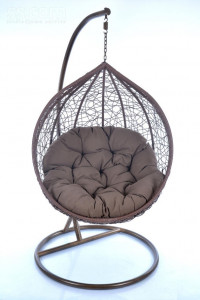 Swinging sofa and hanging chair