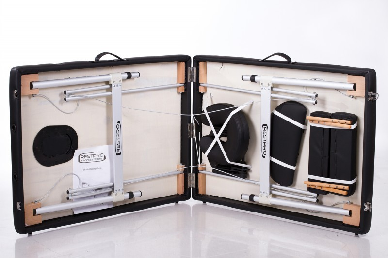 RESTPRO® ALU 2 (L) Black портативный массажный стол (кушетка)