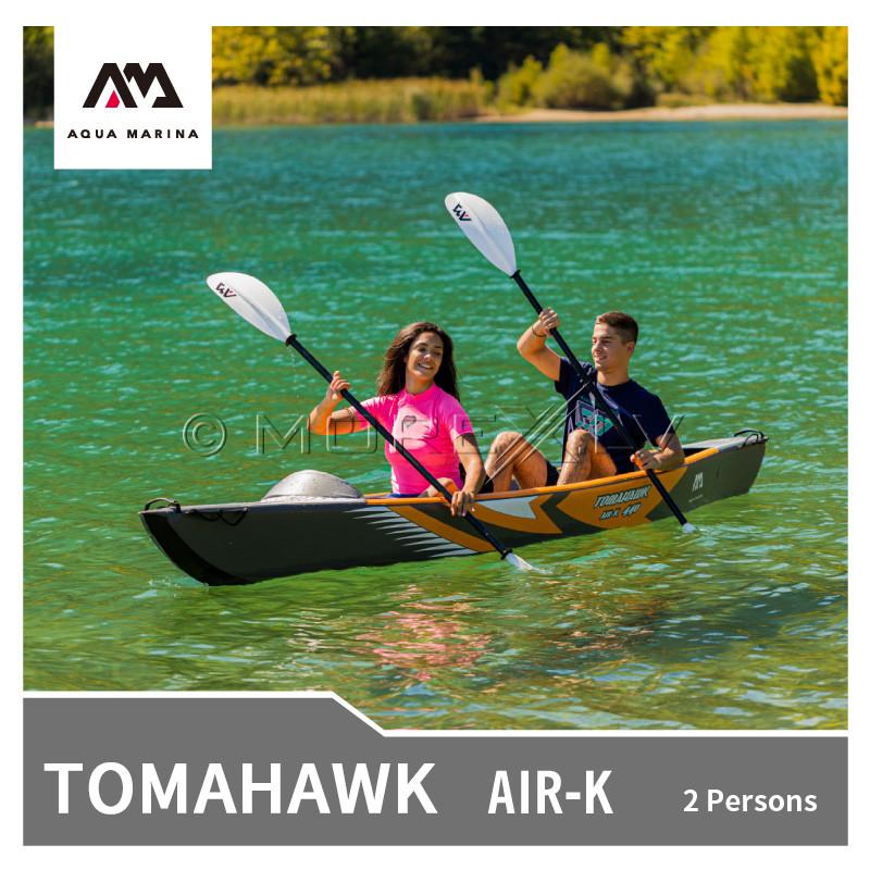 Divvietīgs piepūšams kajaks Aqua Marina Tomahawk 440x78 cm (AIR-K-440)