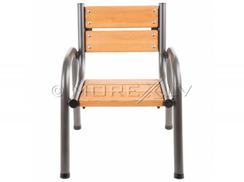 Dārza krēsls ar koka sēdekli, 65x74x86 cm