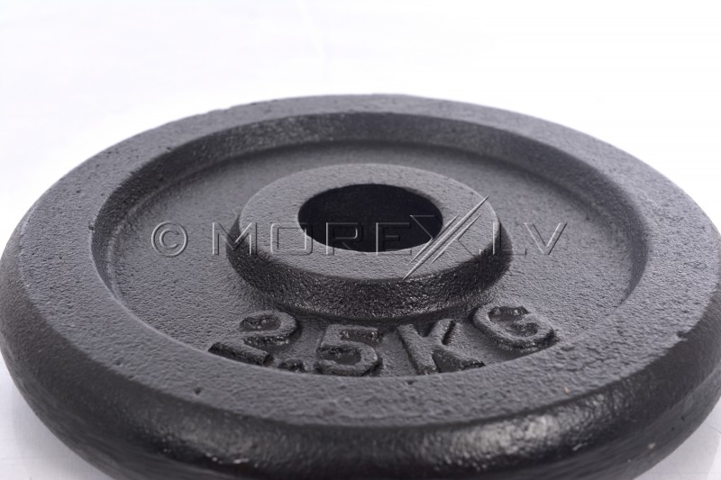 Steel weight disk for barbells and dumbbells (plate) 2,5kg (31,5mm)