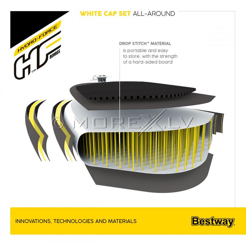 SUP dēlis Bestway White Cap Set, 305x84x12 cm, 65342
