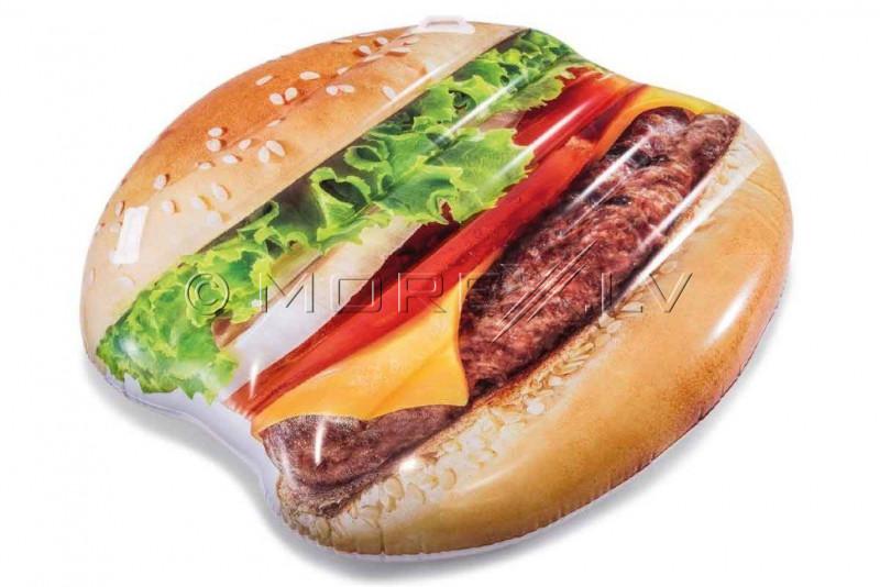 Piepūšamais plosts atpūtai Hamburgers, Intex 145x142 cm (58780)