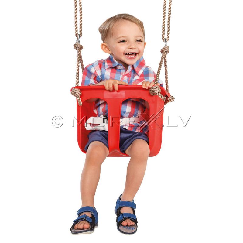 Bērnu šūpoles ar ierobežotājiem, 12-24 mēneši, КВТ, sarkanas