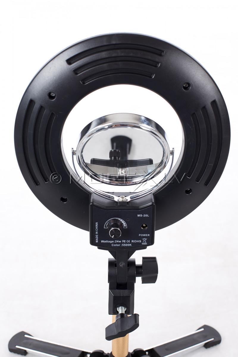 Gredzenveida LED lampa kosmetologiem, Ø20 cm, 24W (9601LED-8)