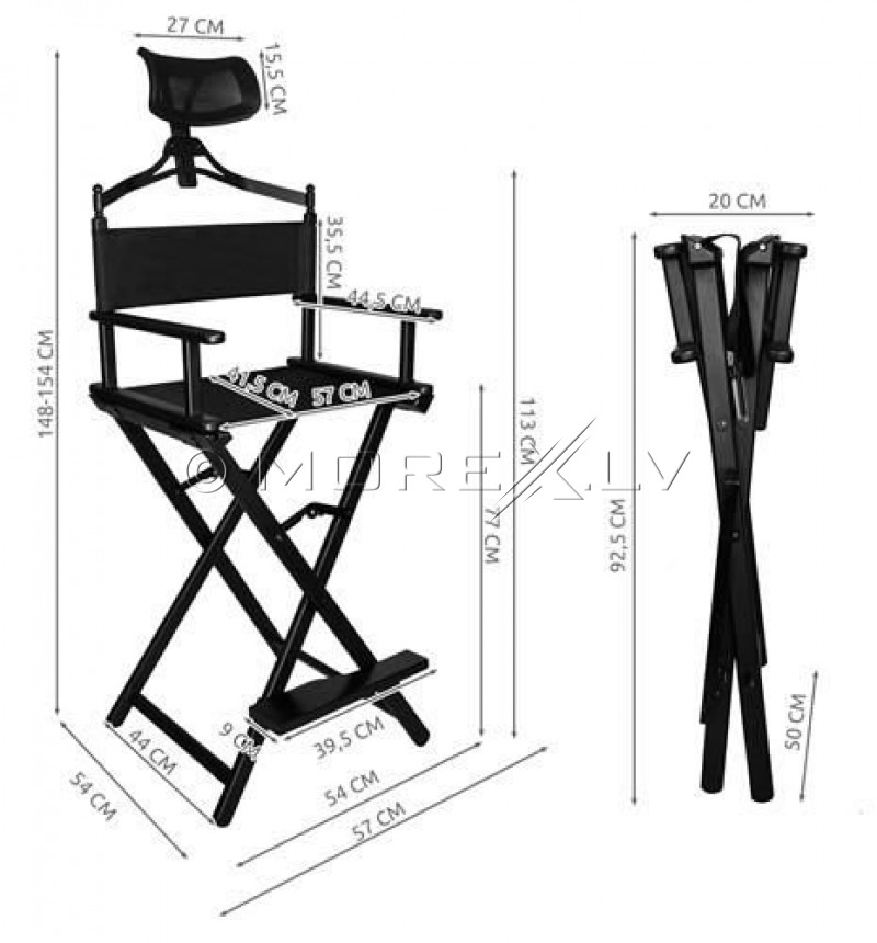 Folding make up chair (9957)