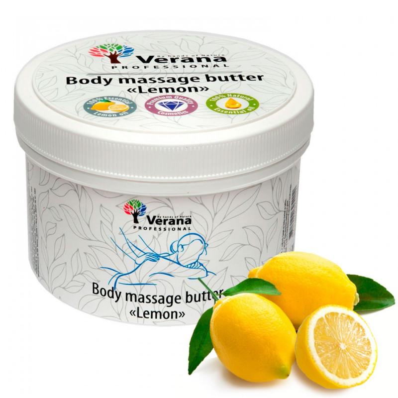 Твёрдое массажное масло для тела Verana Лимон 450 гр