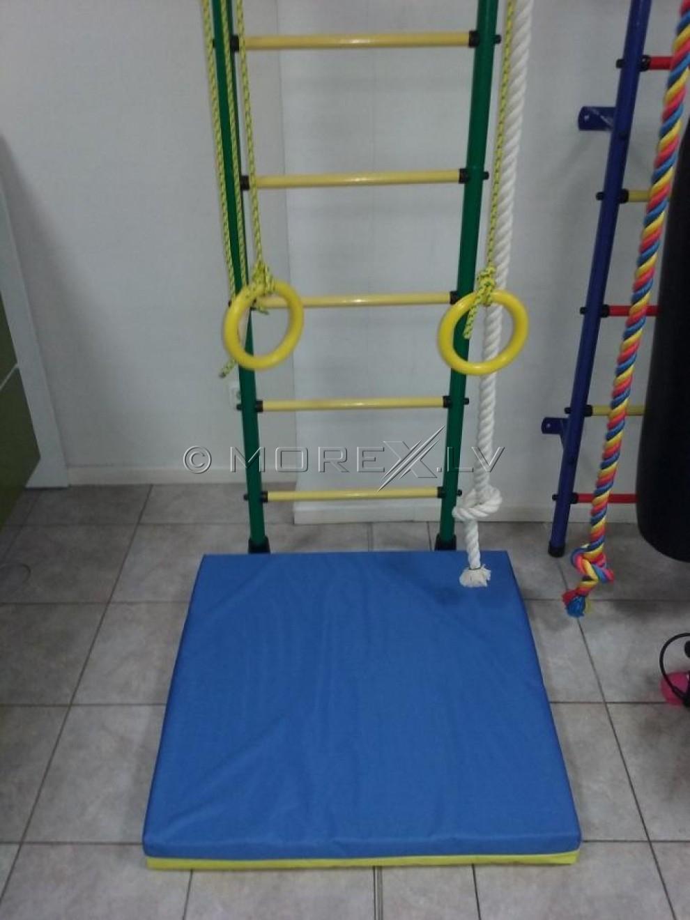 Safety mat 80x80cm blue-yellow