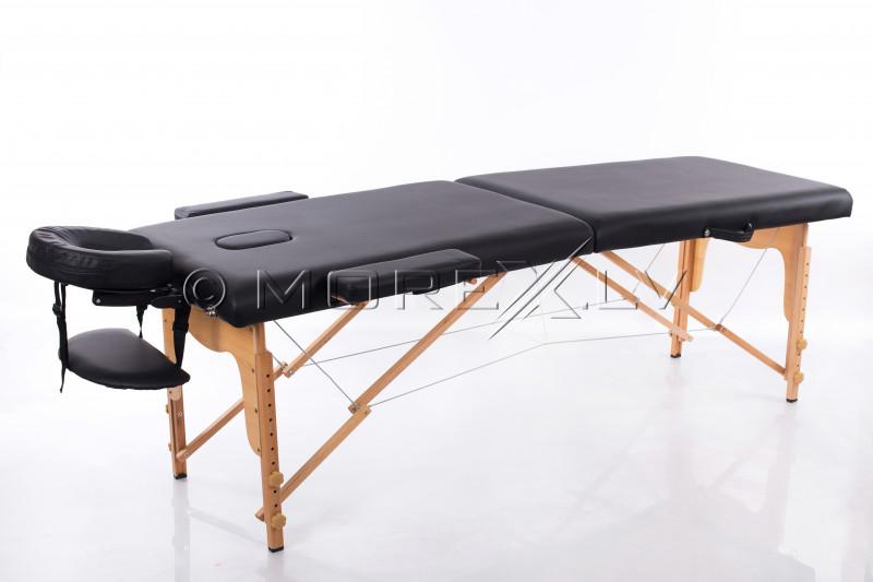 Masāžas galds (kušete) melns 185x60 cm