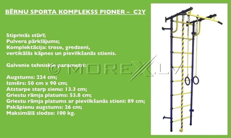 Bērnu zviedru siena Pioner-C2Y zili-dzeltens