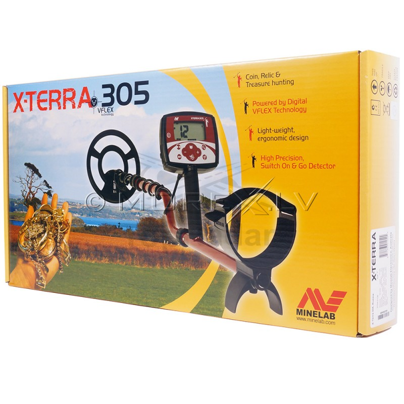 "Minelab X-Terra 305 ar spoli 9"" 7.5kHz CC (3704-0107)"