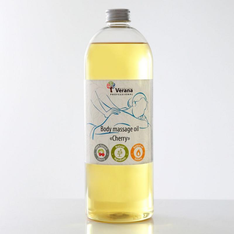 Массажное масло для тела Verana Professional, Вишня 1 литр