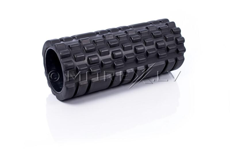 Masāžas jogas pilates putu rullis Grid Roller, melns
