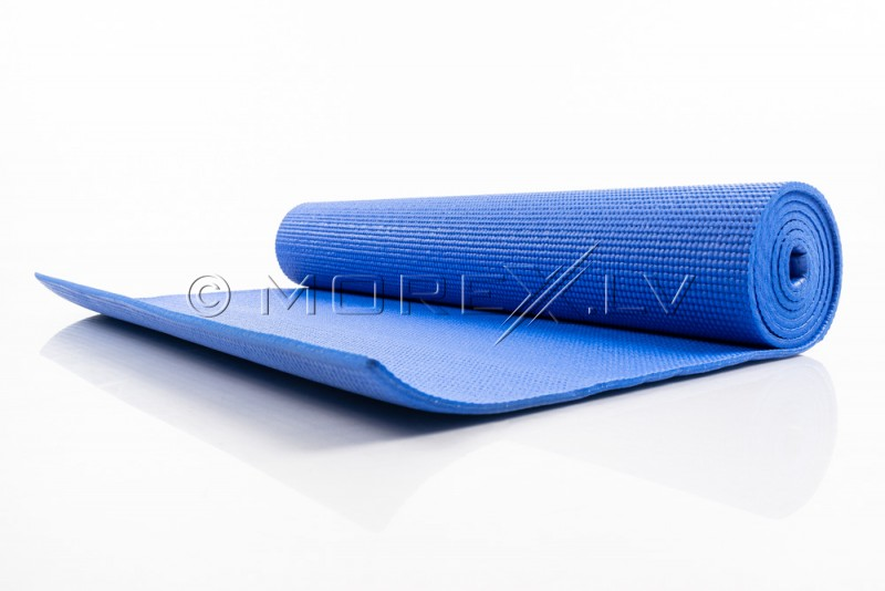 Jogas pilates vingrošanas sporta paklājiņš 173x61x0.5 cm  zils