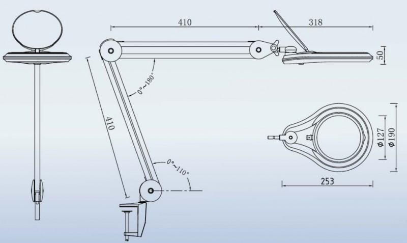 Lamp - Magnifier 9003LED-3D
