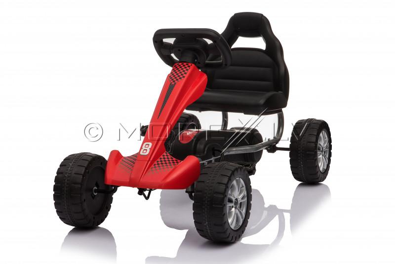 Велокарт (Веломобиль) Go-Kart 1801 красный (3-6 лет)