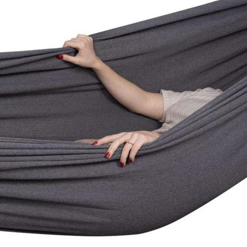 Guļamtīkls-šūpuļtīkls 200x150 cm, tumši pelēks