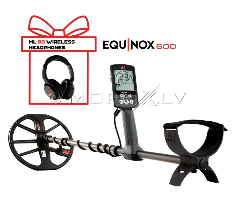 Metāla detektors Minelab Equinox 600 + Bezvadu austiņas Minelab Equinox