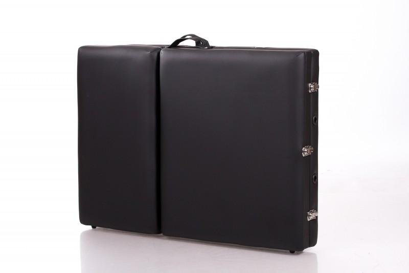 RESTPRO® ALU 3 BLACK (melna krāsa) portatīvais masāžas galds (kušete)