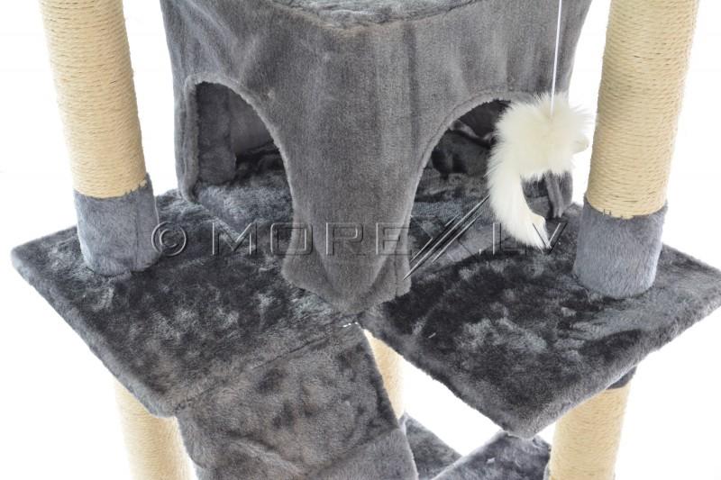 Kaķu māja nagu asināmais CAT608 pelēks