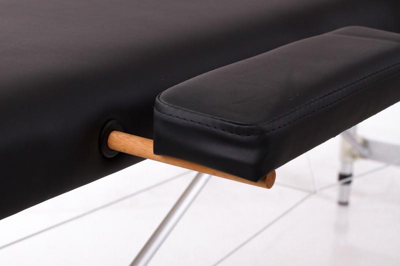 RESTPRO® ALU 2 (S) Black (melna krāsa) saliekamais masāžas galds (kušete)
