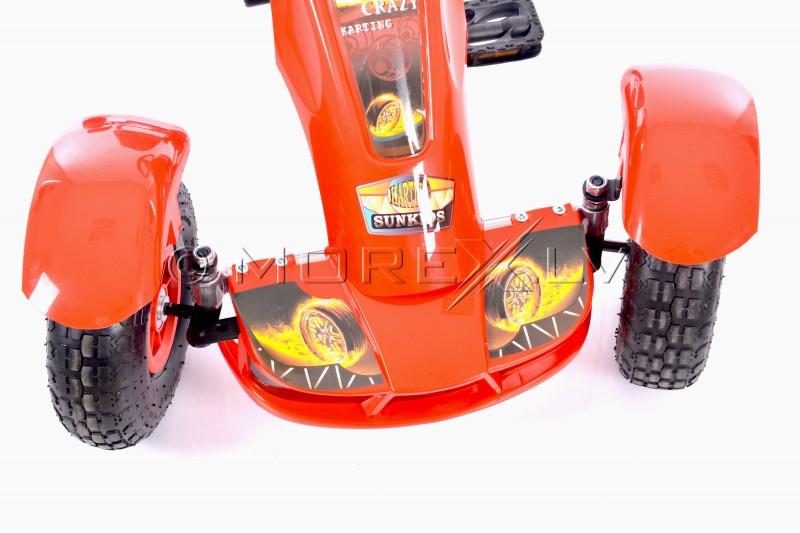 Velokarts (Velomobilis) Go-Kart F618 sarkans (4-10 gadiem)