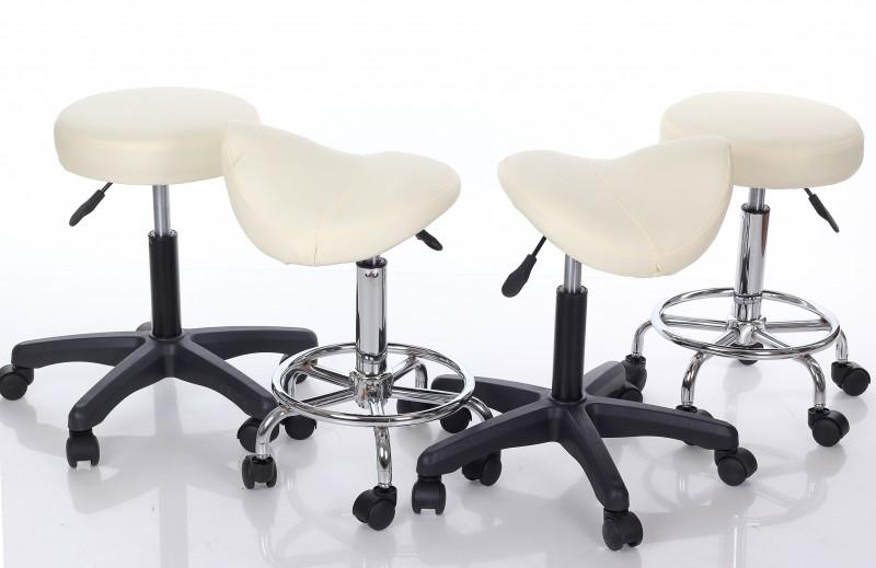Meistara krēsls RESTPRO® Round 2 cream (kosmetologa, masiera krēsls)