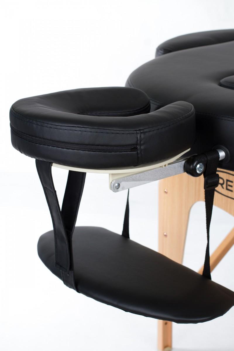 RESTPRO® VIP OVAL 2 BLACK masāžas galds (kušete)