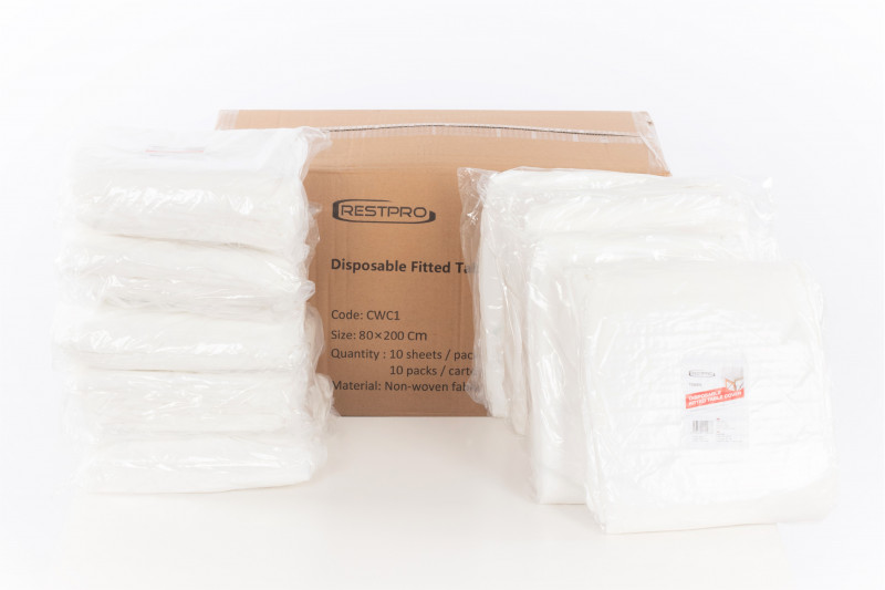 Disposable Fitted Table Cover - 100 pack