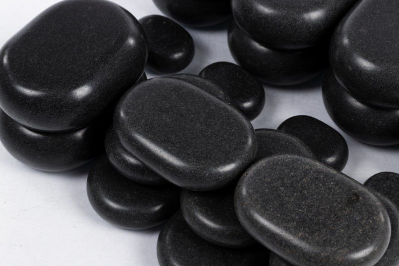 Комплект вулканических базальтовых камней - 22шт.