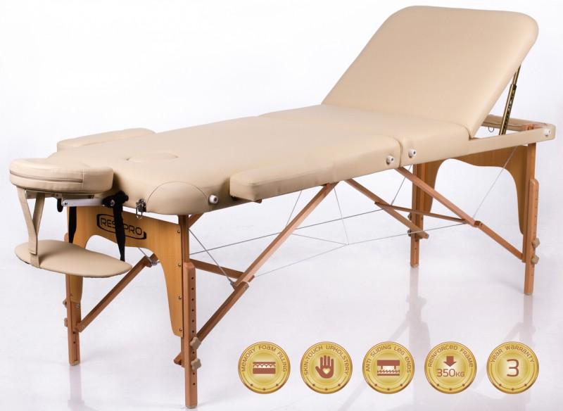 RESTPRO® Memory 3 Beige Portable Massage Table