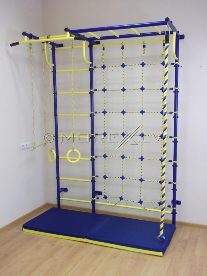 Детская шведская стенка Пионер-C4P сине-жёлтый