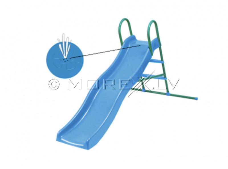 Viļņveida slidkalniņš ar metāla kāpnēm ar ūdens funkciju