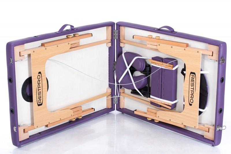 RESTPRO® Classic-2 Purple masāžas galds + masāžas ruļļi