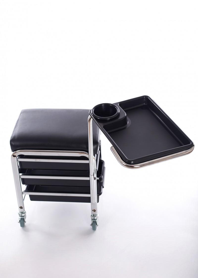 Profesionāls pedikīra krēsls ar plauktiem un kāju balstu CH-5005