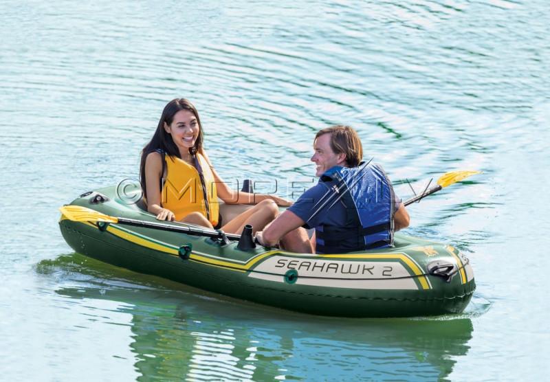 Надувная лодка 2-местная Intex 68347 SEAHAWK 2 BOAT SET (236х114х41)