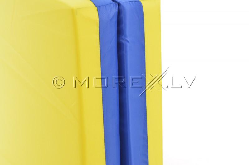 Sporta paklājs 66x120cm zili-dzeltens