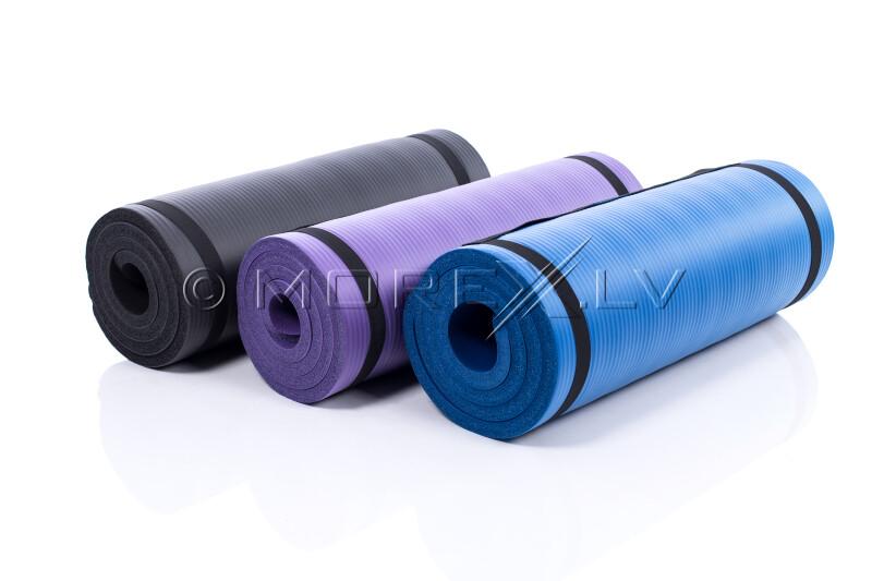 Jogas pilates vingrošanas sporta paklājiņš 179х1,5х60 cm, melns