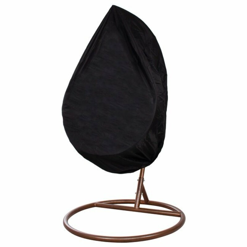 """Šūpuļkrēsla pārsegs """"Ola"""", ūdensizturīgs 115x190cm, melns"""