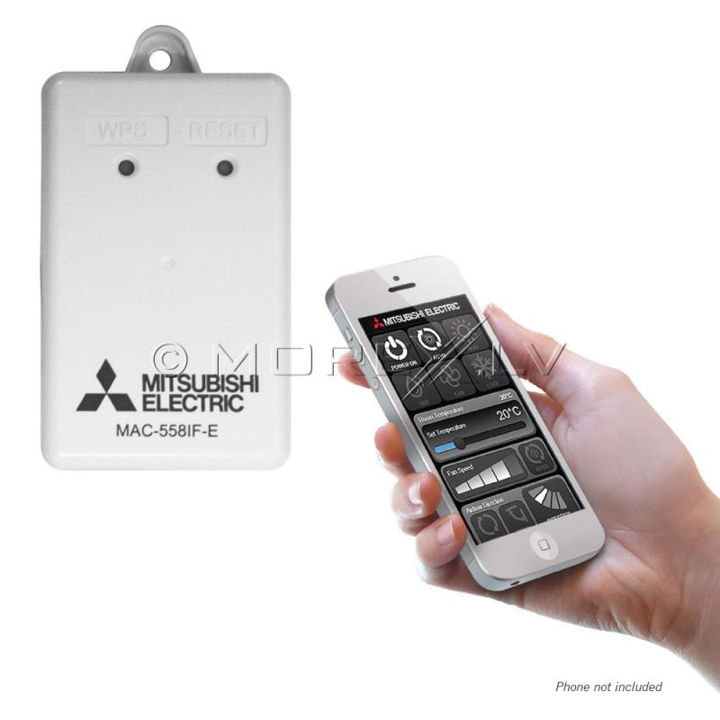 Wi-fi kontroles adapteris Mitsubishi siltumsūkņiem, MAC-568IF-E