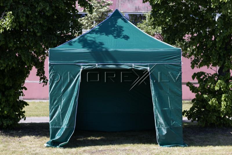 Pop Up Saliekamā nojume 3x3 m, ar sienām, Zaļa, X sērija, alumīnijs (tents, paviljons, telts)