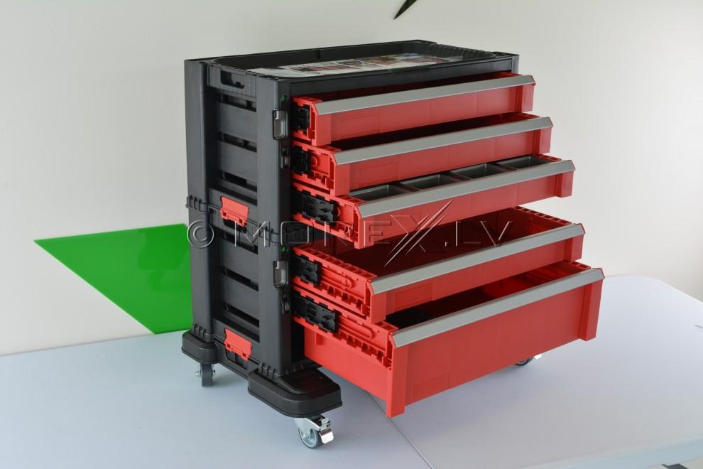5 drawer tool chest system keter 51149579 drawer tool chest systems pirkti internetu prek. Black Bedroom Furniture Sets. Home Design Ideas