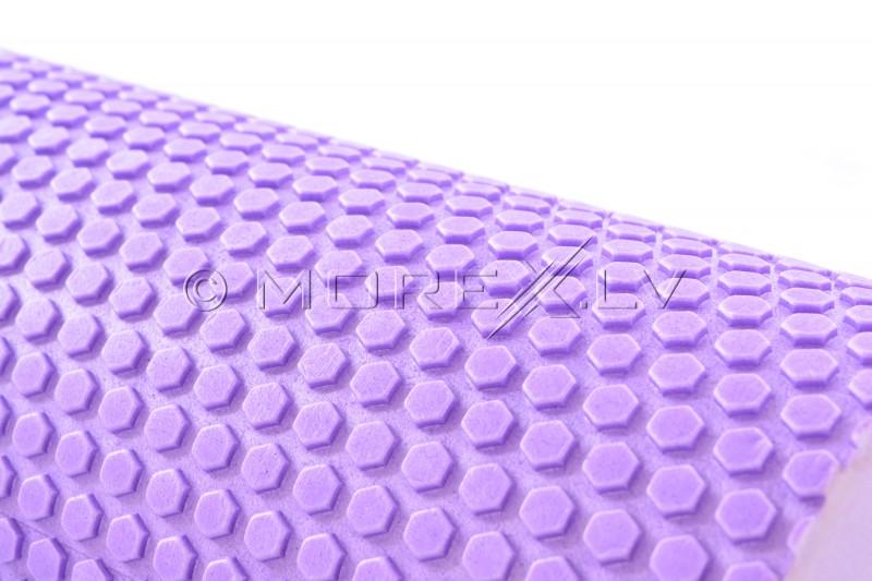 Masāžas jogas pilates putu rullis violets (DY-FR-004)