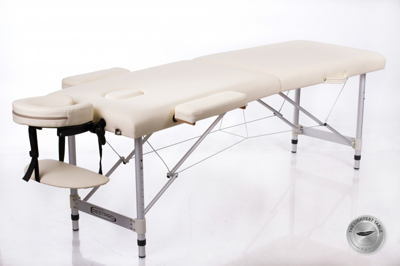 RESTPRO® ALU 2 (S) Cream Portable Massage Table