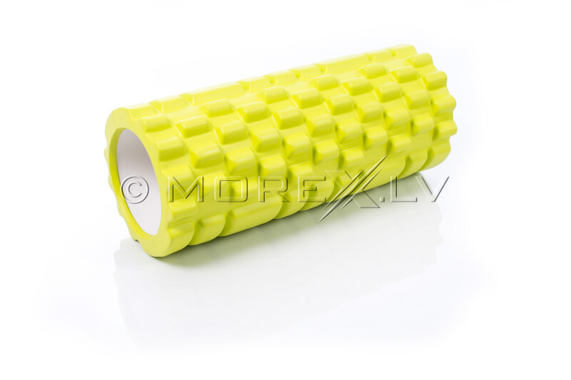 Masāžas jogas pilates putu rullis Grid Roller, laima zaļš