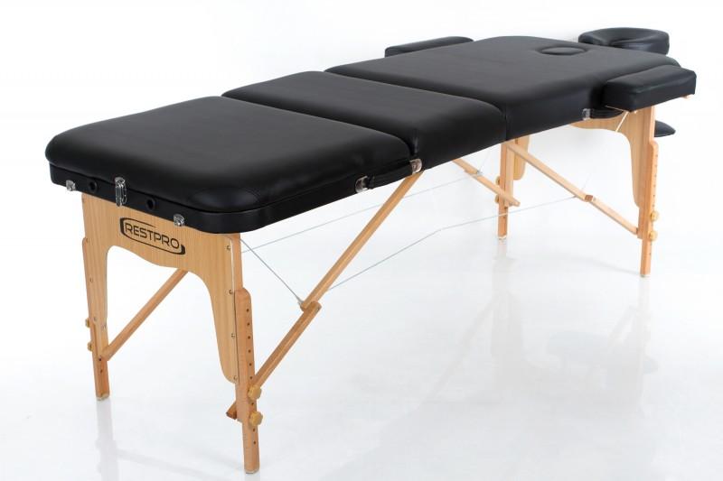 RESTPRO® VIP 3 BLACK masāžas kušete (galds)