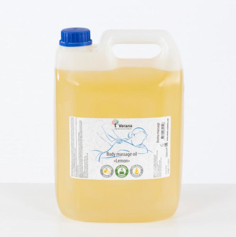 Массажное масло для тела Verana Professional, Лимон 5 Л