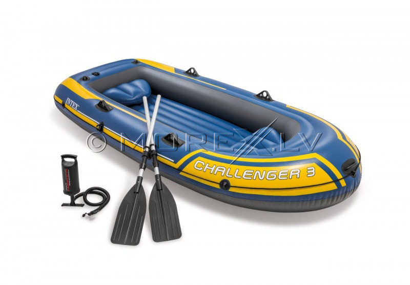 Inflatable three seat boat Intex 68370 Challenger 3 Set (295х137х43)