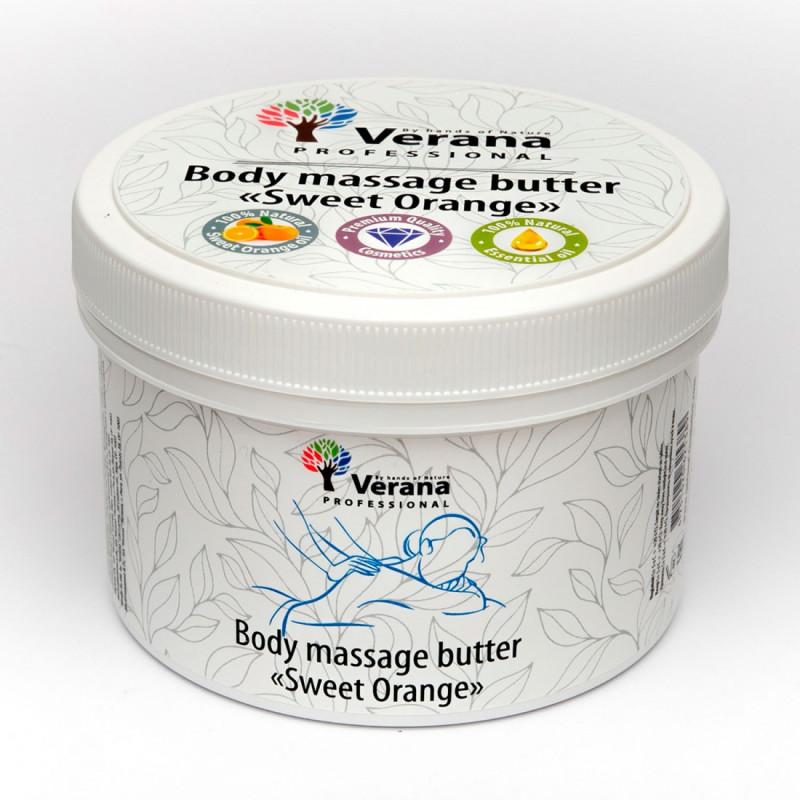 Твёрдое массажное масло для тела Verana Сладкий Апельсин 450гр